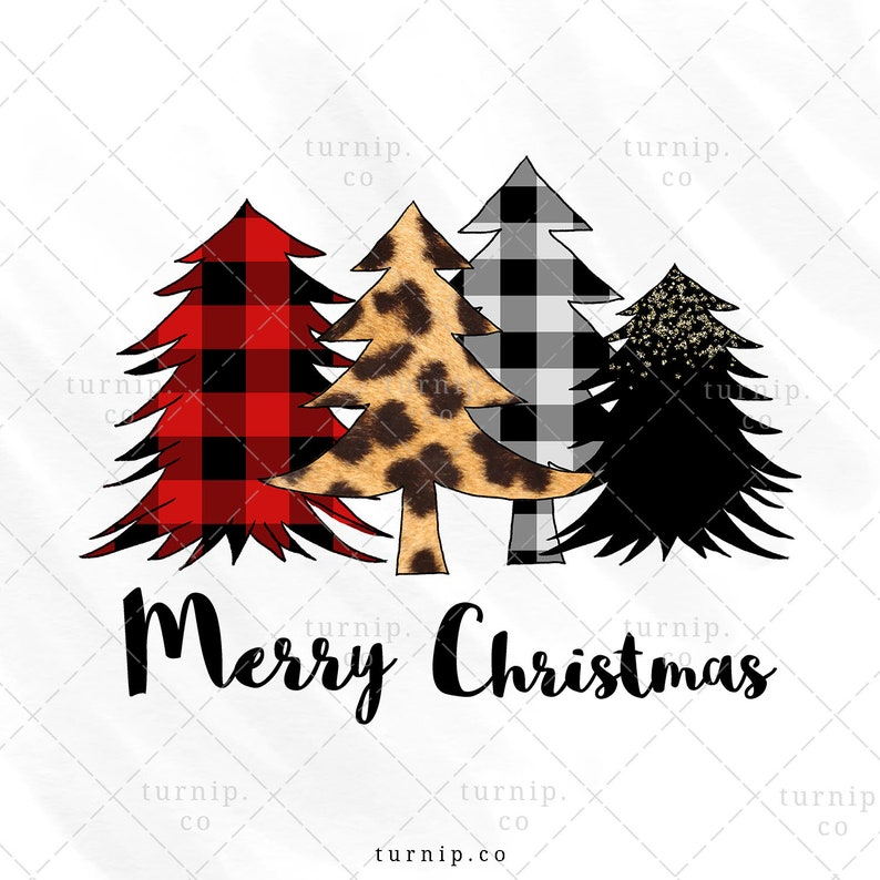 Christmas Tree PNG Sublimation Design Clipart Graphic