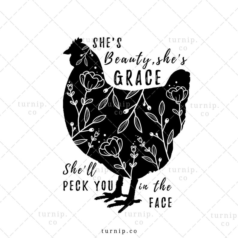 She's Beauty She's Grace Sublimation Clipart PNG Graphic Cartoon PNG