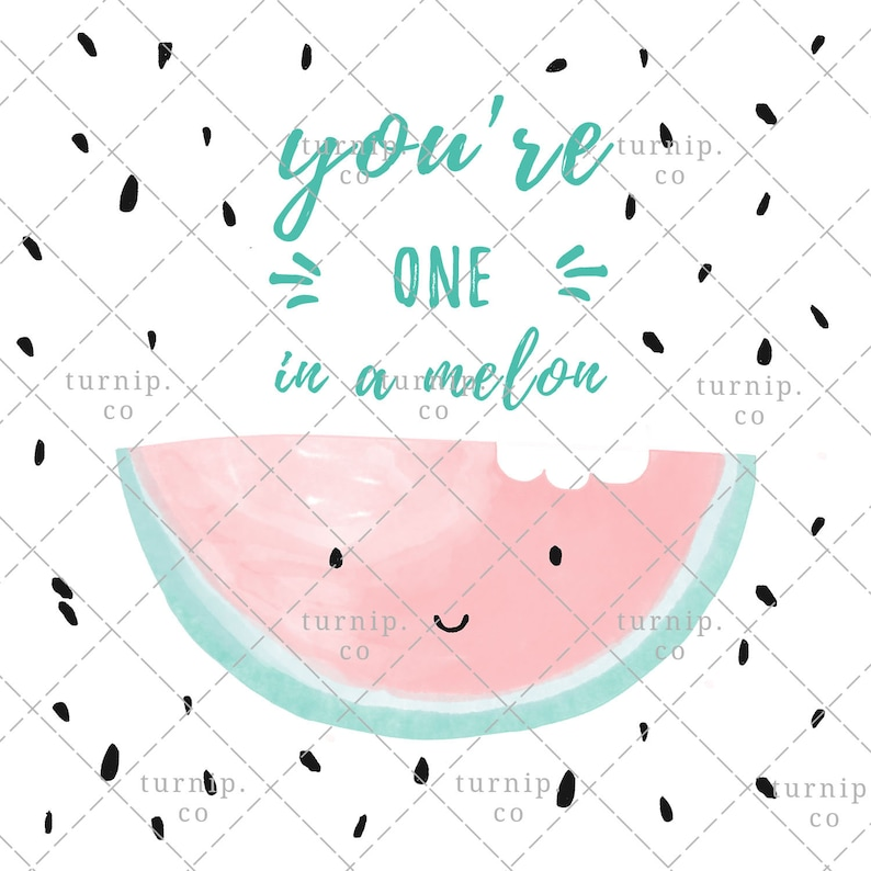 Watercolor Watermelon Clipart PNG Digital Sublimation Design Cartoon PNG