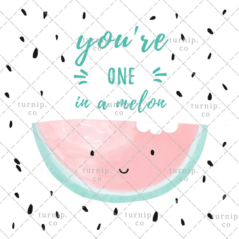 Watercolor Watermelon Clipart PNG Digital Sublimation Design