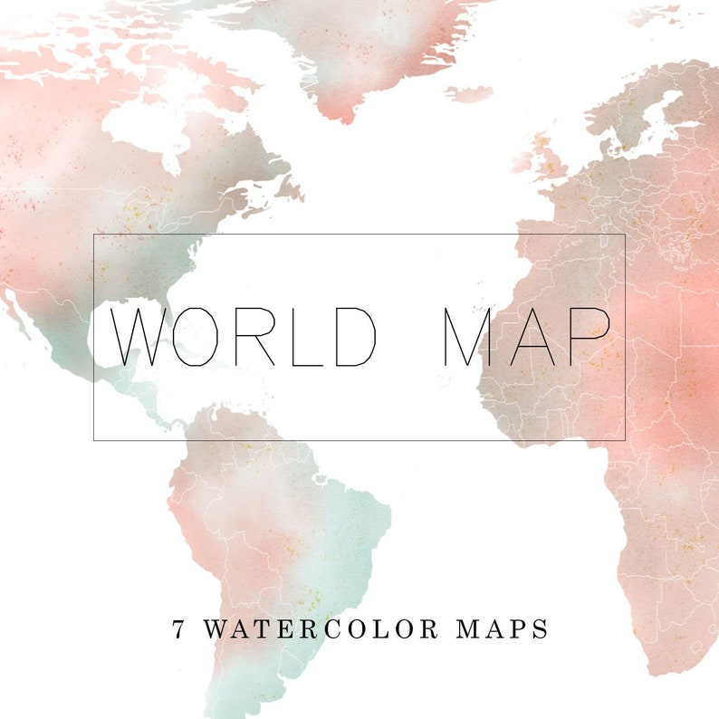 World Map Watercolor PNG Clipart Cartoon PNG