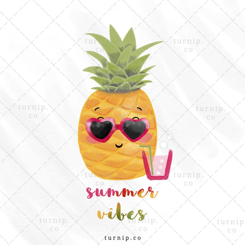 Summer Vibes Sublimation PNG Clip Art Designs Cartoon PNG