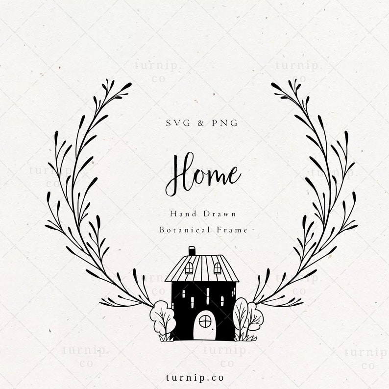 Family Welcome Sign Wreath SVG House Frame Clipart png image 0