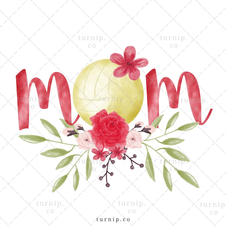 Volleyball Mom PNG Sublimation Clipart Graphic Cartoon PNG