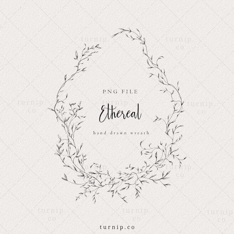 Wedding Wreath Clipart Floral Laurel Frame png Oval wreath image 0