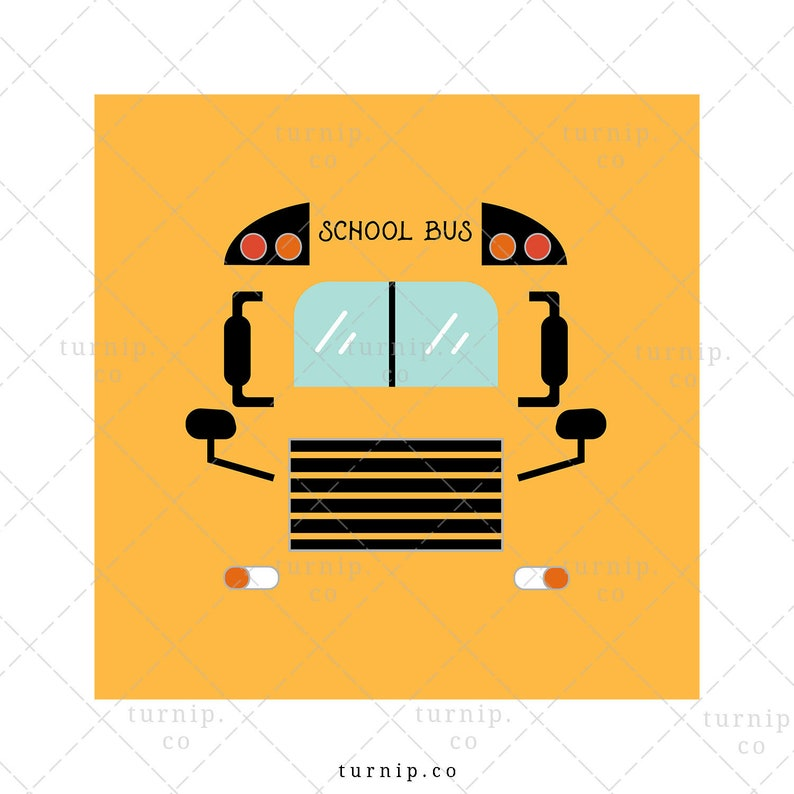 School Bus Sublimation Clipart Graphic For Tumbler And More image 0