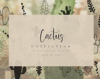 Cactus SVG & PNG Clipart Sublimation Graphic Bundle / Succulents Art Print PNG Quote Stamp Shirt Tumbler Tree Sticker Vinyl Xmas Design Card