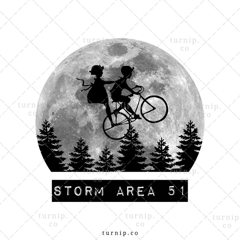 Storm Area 51 Sublimation Clipart Graphic Design Cartoon PNG