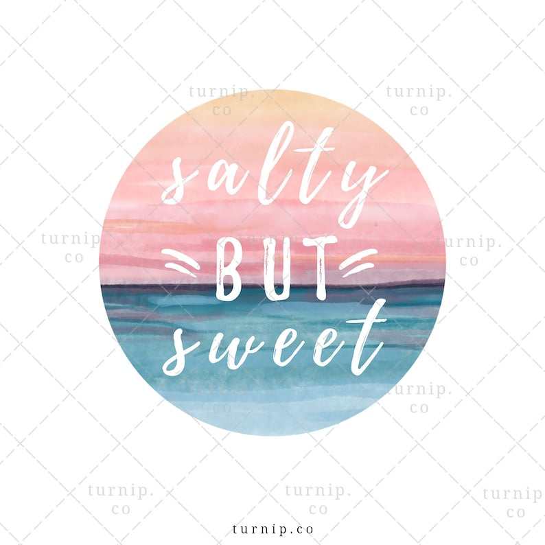Salty But Sweet Beach Sublimation Graphic PNG Clipart Cartoon PNG