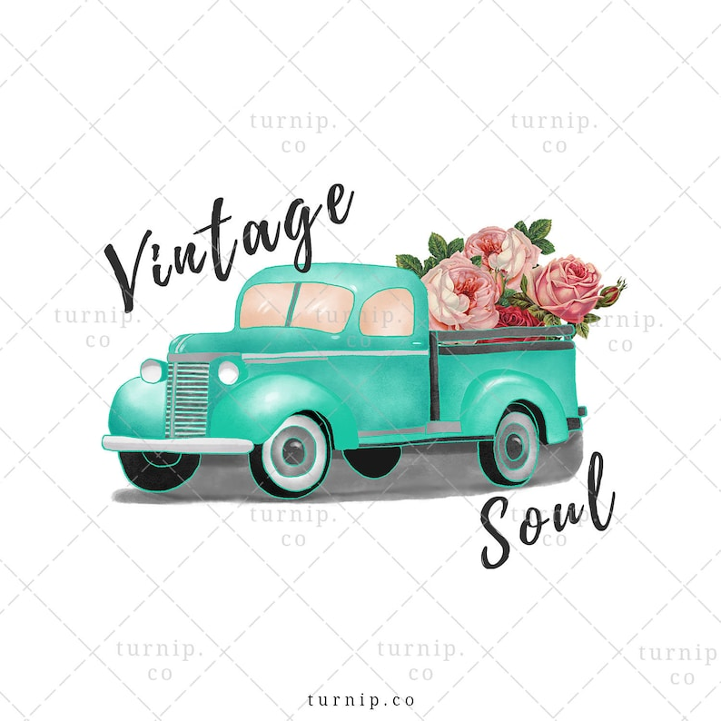 Vintage Soul Sublimation Clipart Graphic PNG Cartoon PNG