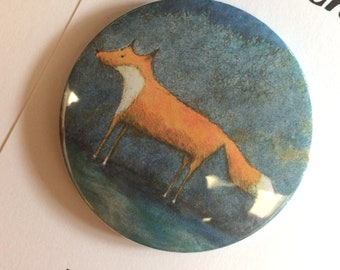 Fox Fridge Magnet, Badge or Pocket Mirror