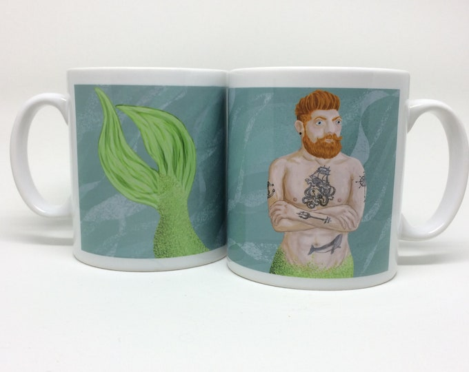Featured listing image: Bearded Merman Mug