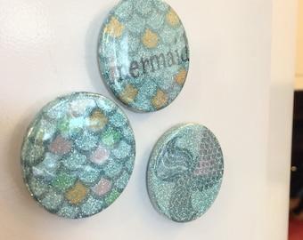 Glittery Mermaid Magnets