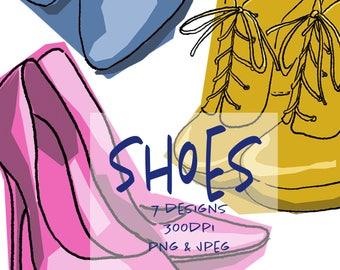 Colourful Shoes Digital Art