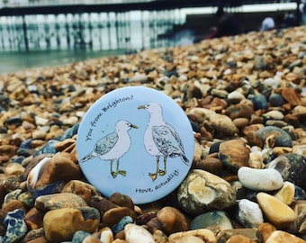 Hove Actually Badge or Magnet