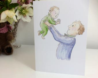 Father and Child Greetings Card