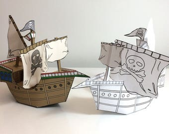 Colour and Make Pirate Ship Download