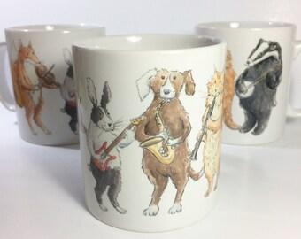 Animals Making Music Mug