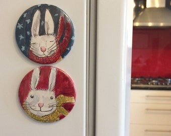 Happy Rabbit Magnet
