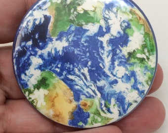 Planet Earth Badge or Magnet