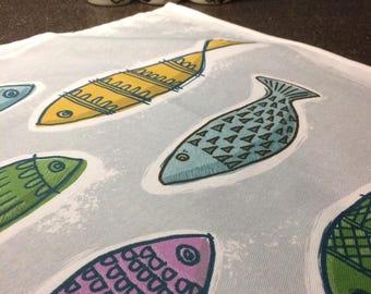 Colourful Fishes 100% Cotton Tea Towel