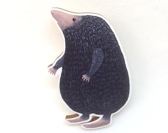 Mole Brooch