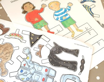 Dressing Up Paper Dolls Download and Print Activity