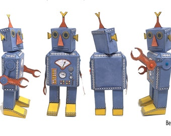 Cut Out and Make Robot Model Digital Download