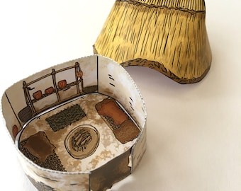 Cut Out and Make Paper Neolithic House