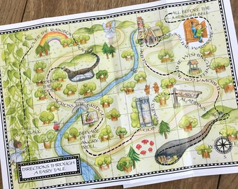 Directions Through A Fairytale a Map Poem and Activities
