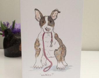 Terrier Dog Greetings Card