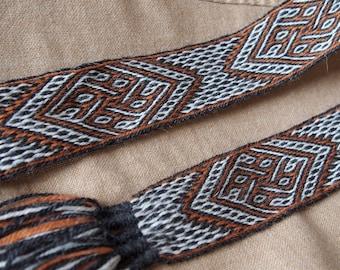 Tablet woven belt, card woven belt, dragonhead motif, viking belt, medieval belt, Brettchenborte, galonband, tablet weaving, tablet weave