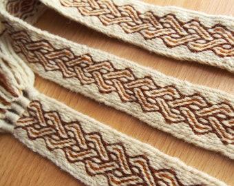 Tablet woven belt, card woven band, woven braid, viking belt, medieval belt, Brettchenborte, galonband, tablet weaving, tablet weave