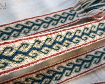 Tablet woven belt, card woven braid, viking belt, medieval belt, Brettchenborte, tablet weaving, tablet weave, Viking clothes