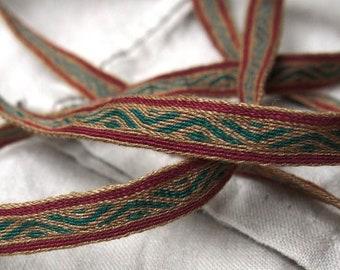 Tablet woven linen trim, Viking trim,  Anglo-Saxon trim, tablet weave, tablet weaving border, medieval clothes, Viking clothes