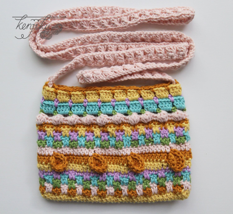Merry Crochet Sling Bagsling Bag Crochet Pattern Diy Mini Etsy
