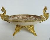 Japanese Meiji period Satsuma pottery dish. 19th century Satsuma bowl.