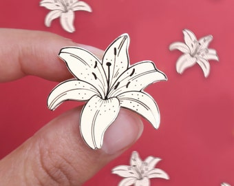 FLORAL PIN Derby Pin Gatsby Fantasy Floral Brooch Ivory WHITE Flower Pin Lapel Pin Pin White Silk Floral Brooch Roaring 20/'s,