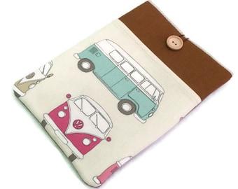 iPad sleeve, iPad 9.7 cover, iPad Pro 10.5 case, padded iPad pro 9.7 sleeve, Campervan,  ipad case with pocket