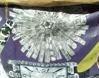 purple starburst decoupage wastebasket