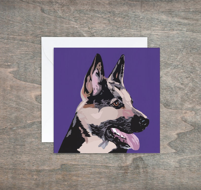 German Shepherd Greetings Card Dog Alsatian