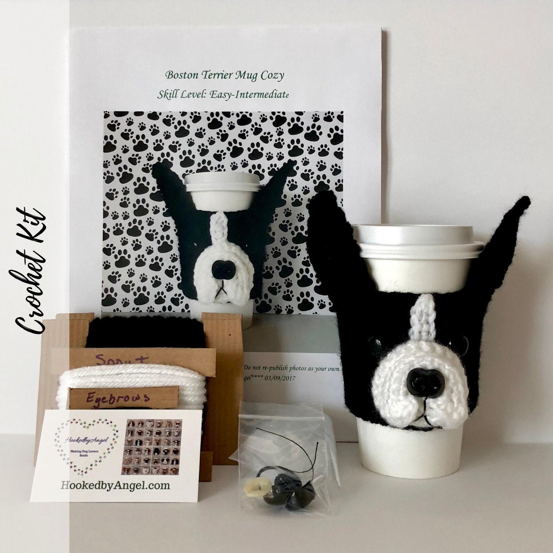 Crochet Kit Boston Terrier Mug Cozy Crochet Etsy