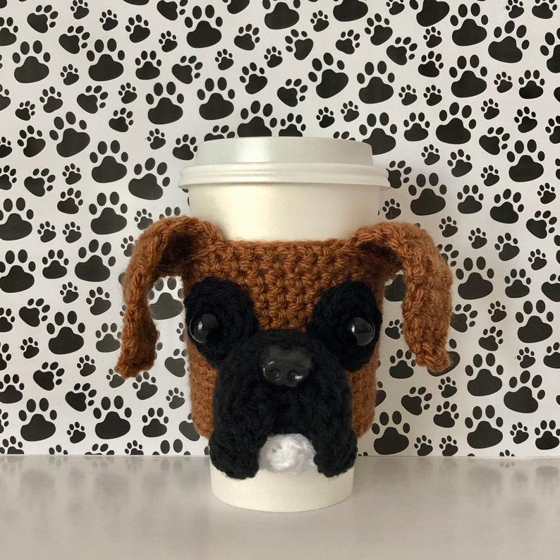Boxer Dog Mug Cozy // Boxer Dog Gifts image 0