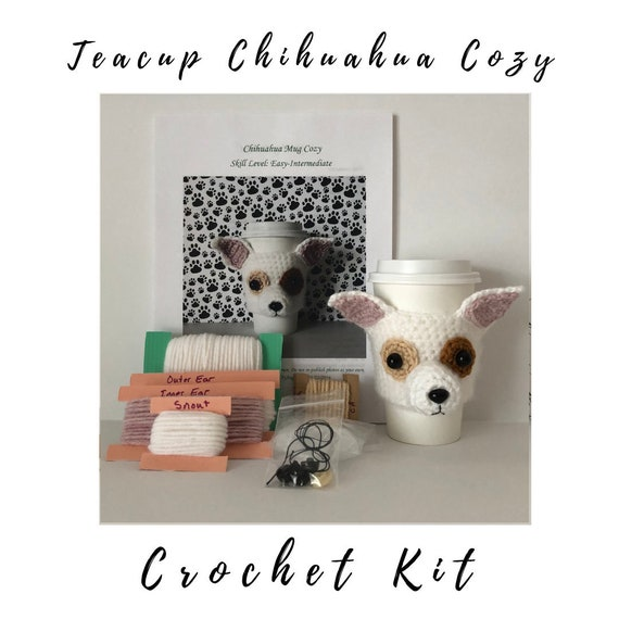 Crochet Chihuahua Pattern Dog Mug Cozy Pattern Crochet Kit Etsy