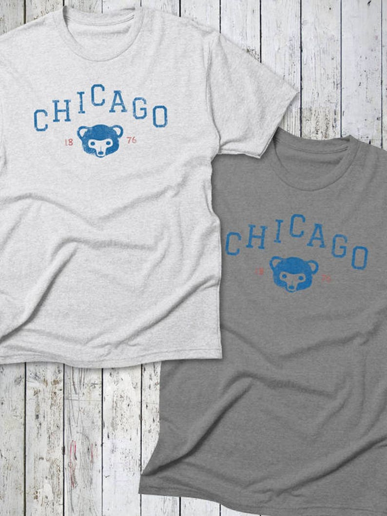 Chicago CUBS Tee  Chicago Baseball Cubbies Cubs Tee Est. image 0