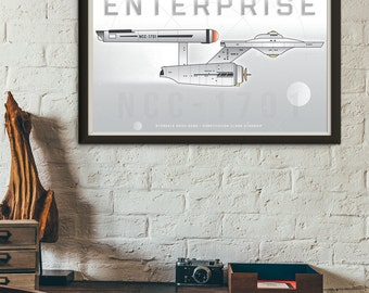 U.S.S. Enterprise, Star Trek, Starship Enterprise 11x17 Poster