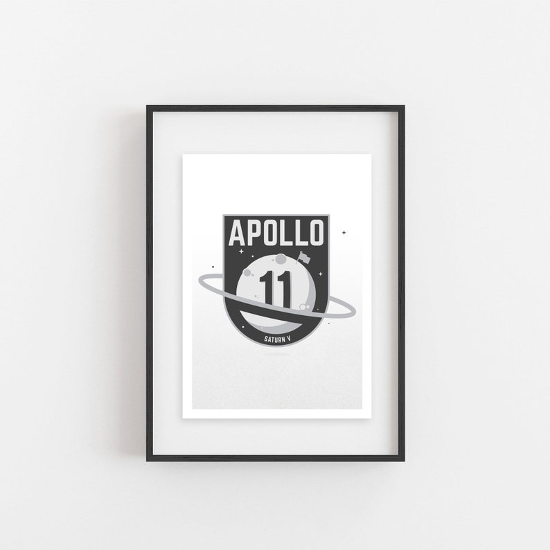Apollo 11 MOON LANDING  Rocket Series No.1  5x7 Giclee image 0