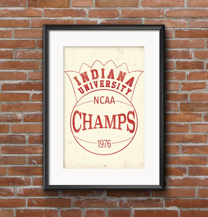 Indiana University  College Town IU Hoosiers 1976 Champs image 0