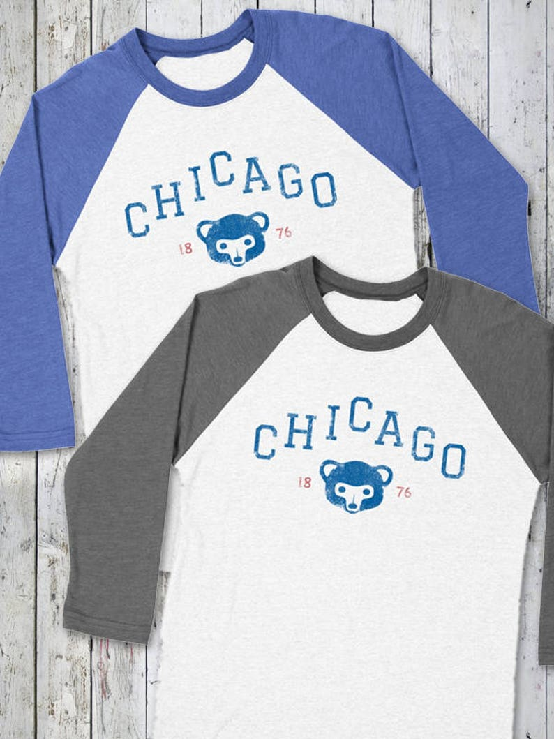Chicago CUBS Baseball Tee  Chicago Baseball Cubbies Cubs image 0
