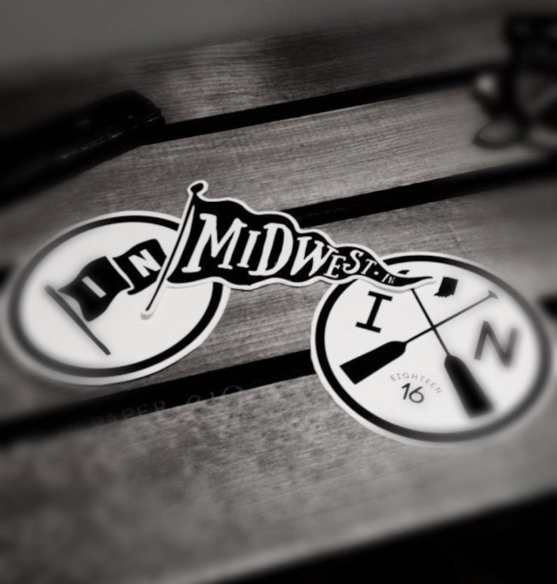 MidWest IN  Sticker Pack 3 Vinyl Stickers image 0